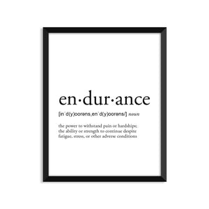 Endurance Definition - Unframed Art Print Or Greeting Card