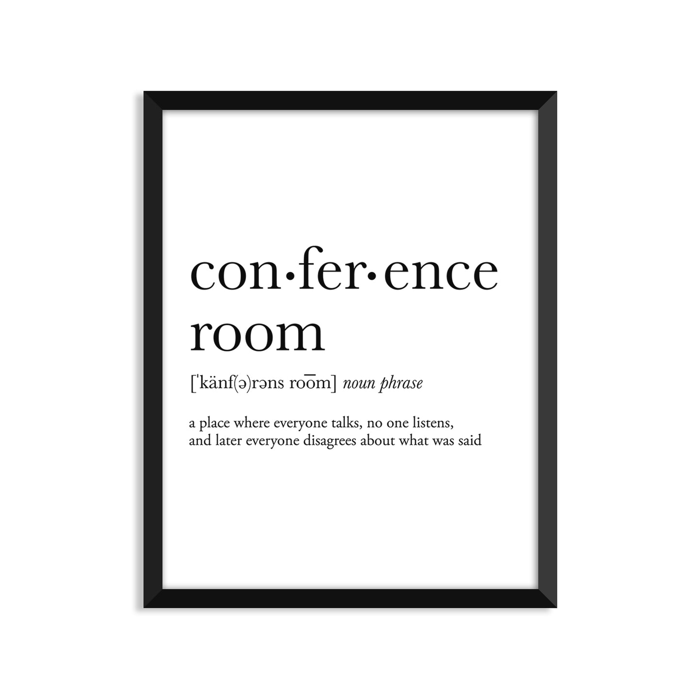Conference Room definition art print or greeting card