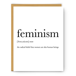 Feminism Definition - Unframed Art Print Or Greeting Card