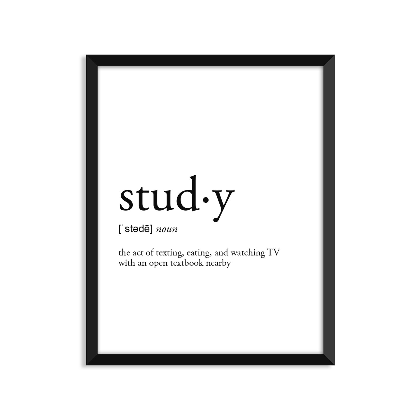 Study Definition - Unframed Art Print Or Greeting Card
