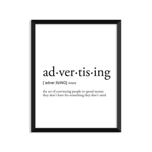 Advertising Definition - Unframed Art Print Or Greeting Card