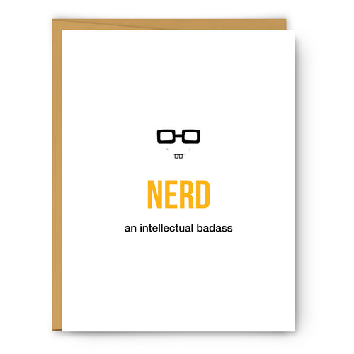 Nerd Definition Illustration - Unframed Art Print Poster Or Greeting Card