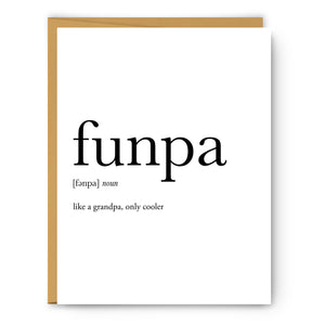 Funpa Definition - Unframed Art Print Or Greeting Card