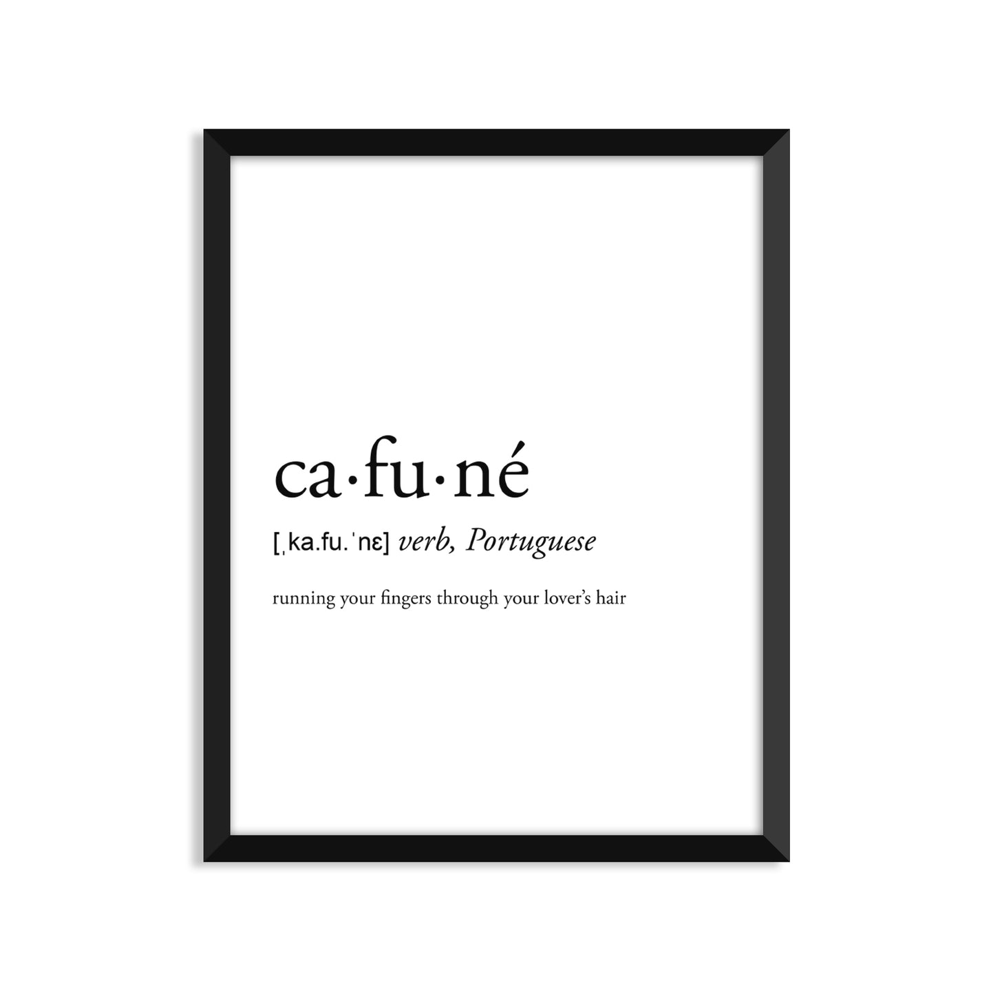 Cafune definition art print or greeting card