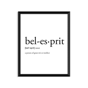 Bel Esprit Definition - Unframed Art Print Or Greeting Card