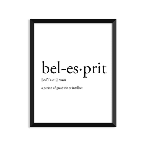 Bel Esprit definition art print or greeting card