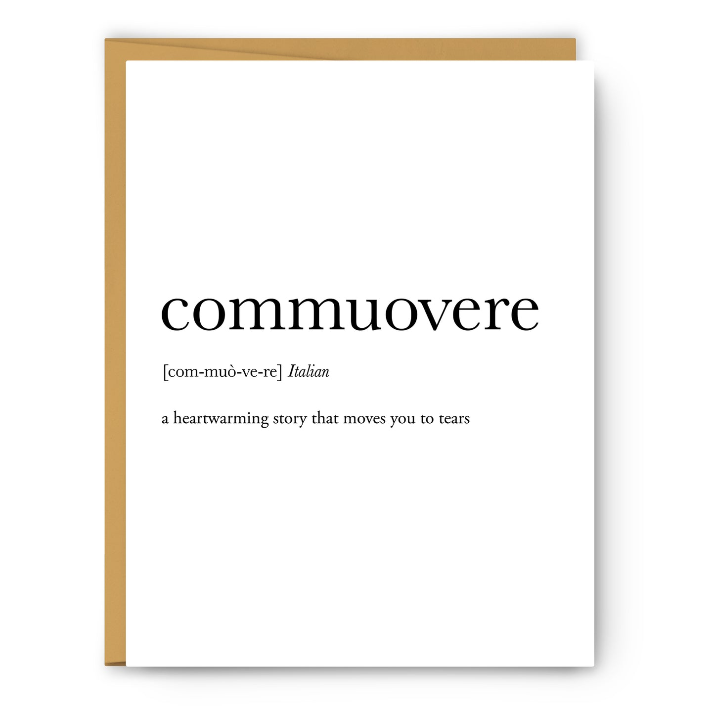 Commuovere Definition - Unframed Art Print Or Greeting Card