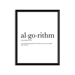 Algorithm Definition - Unframed Art Print Or Greeting Card
