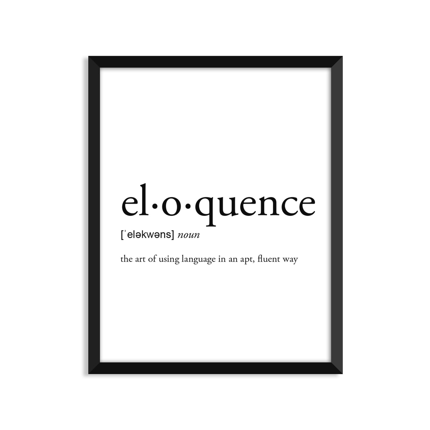 Eloquence Definition - Unframed Art Print Or Greeting Card