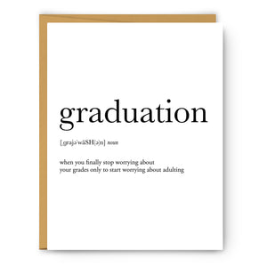 Graduation Definition - Unframed Art Print Or Greeting Card