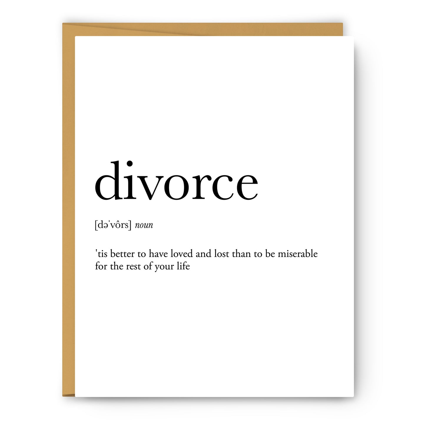 Divorce Definition - Unframed Art Print Or Greeting Card