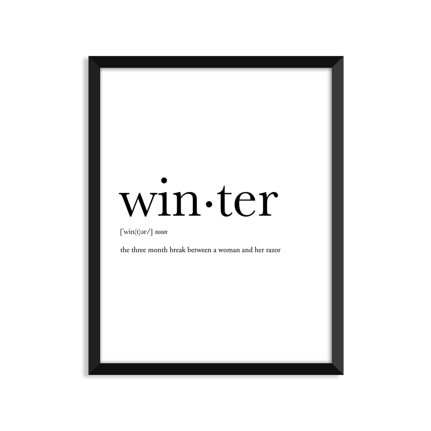 Winter Definition - Unframed Art Print Or Greeting Card