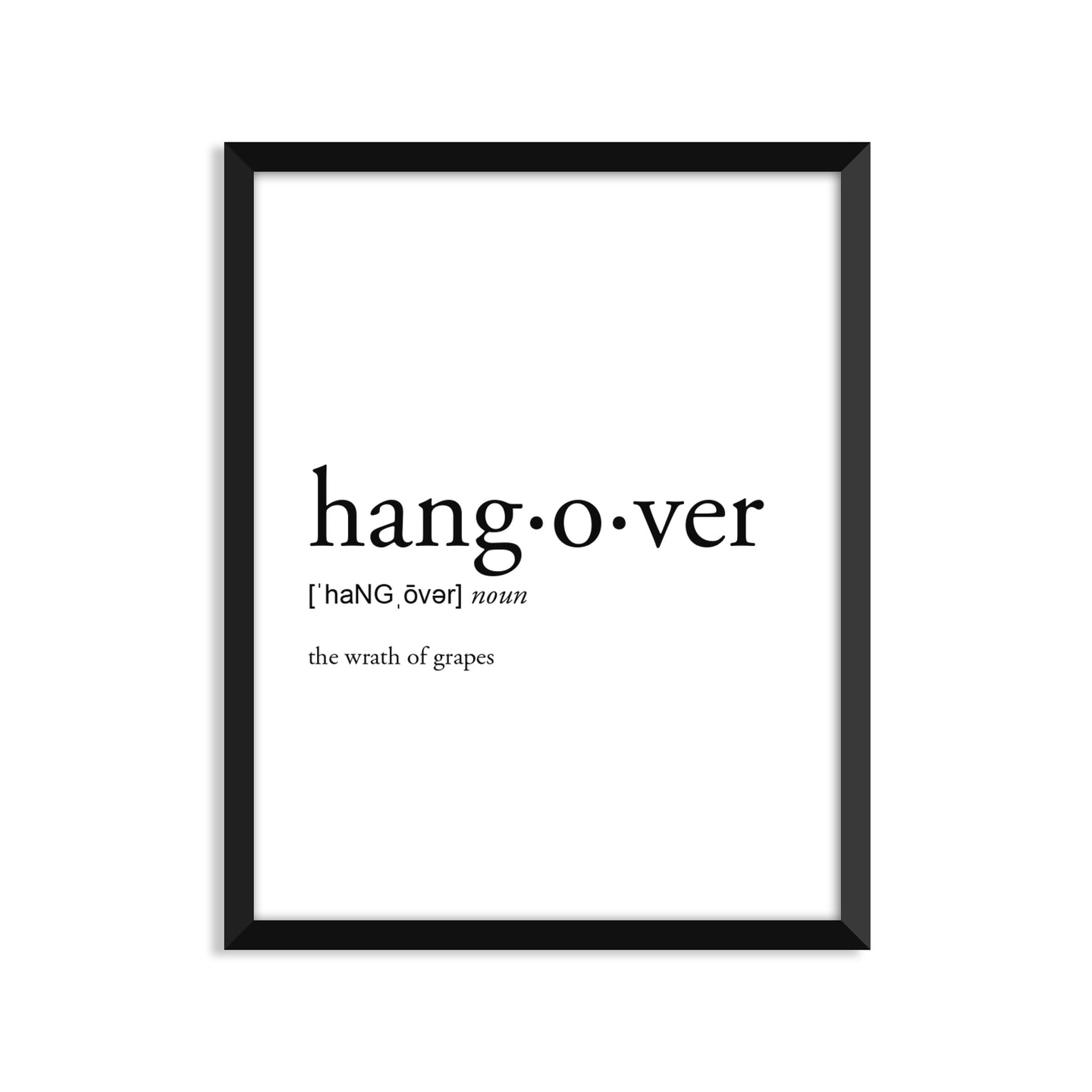 Hangover Definition - Unframed Art Print Or Greeting Card