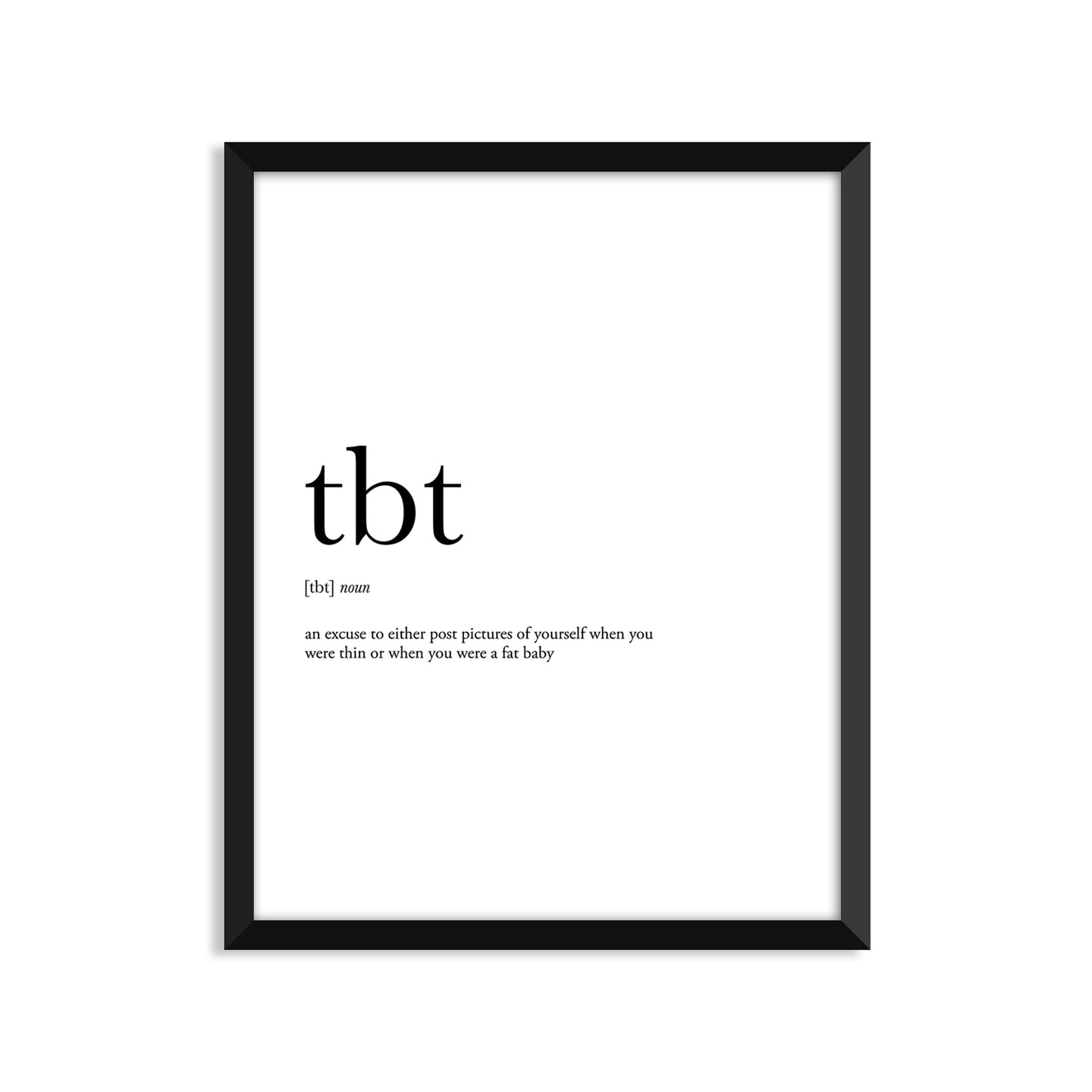 Tbt Definition - Unframed Art Print Or Greeting Card
