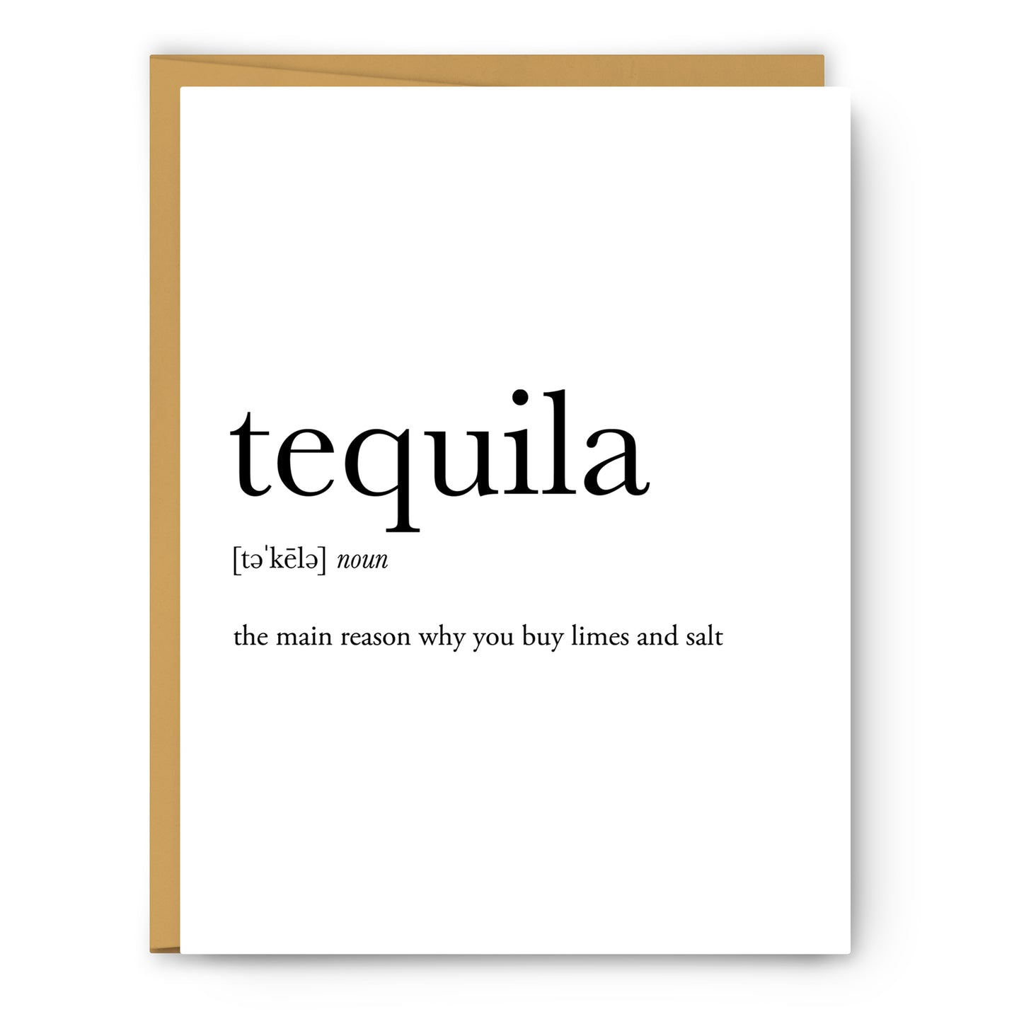 Tequila Definition - Unframed Art Print Or Greeting Card