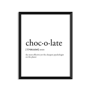 Chocolate Definition - Unframed Art Print Or Greeting Card