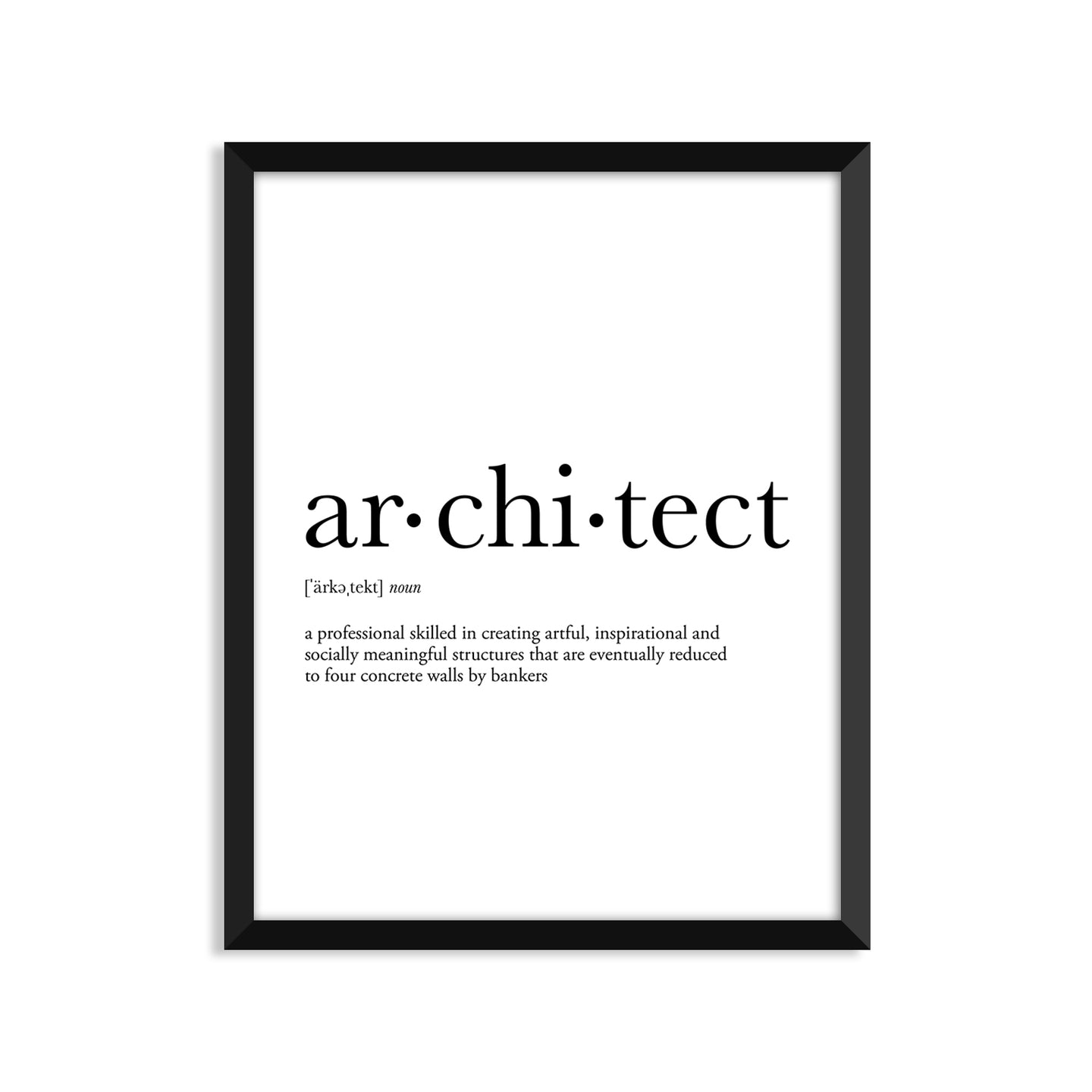 Architect Definition - Unframed Art Print Or Greeting Card