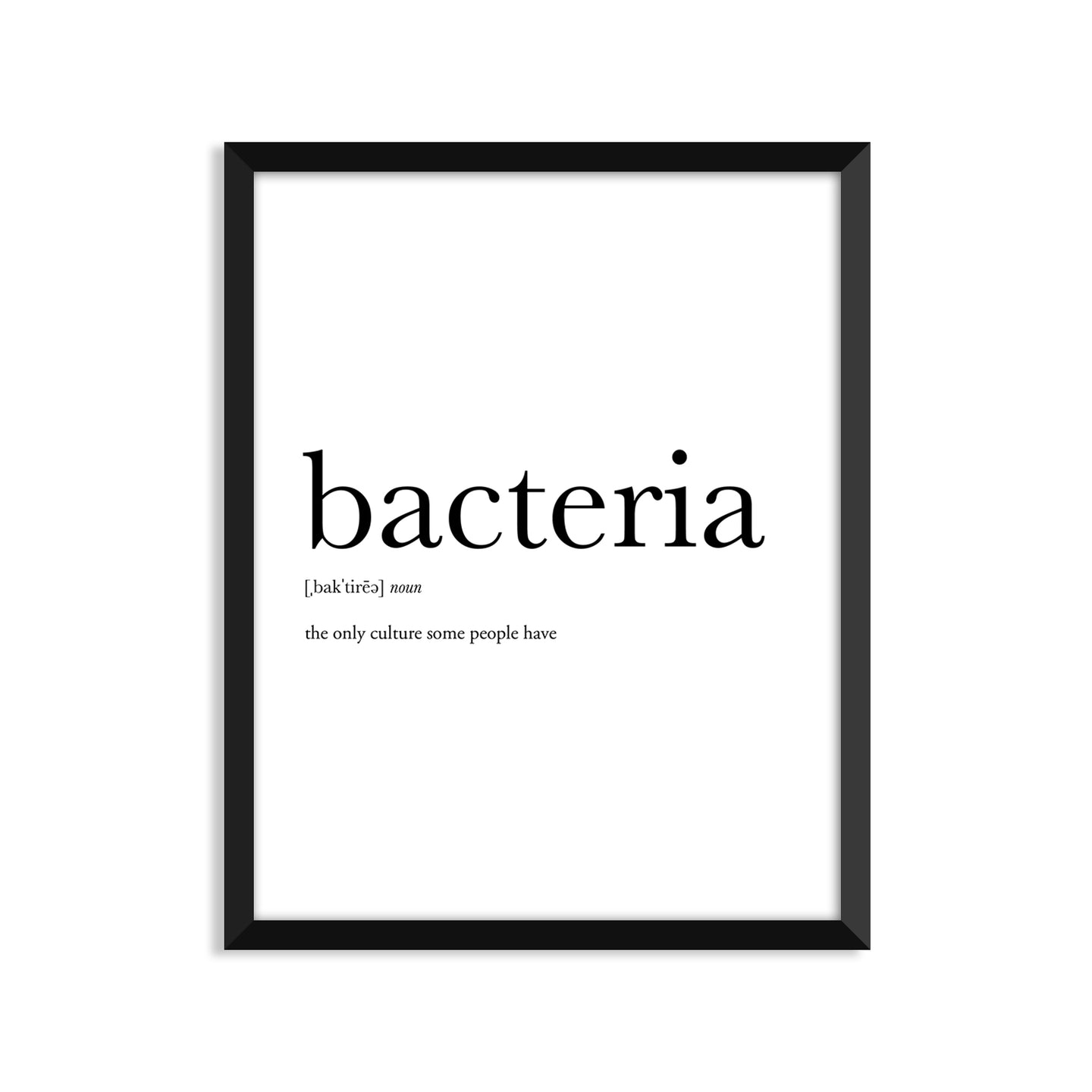 Bacteria Definition - Unframed Art Print Or Greeting Card