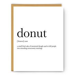 Donut Definition - Unframed Art Print Or Greeting Card