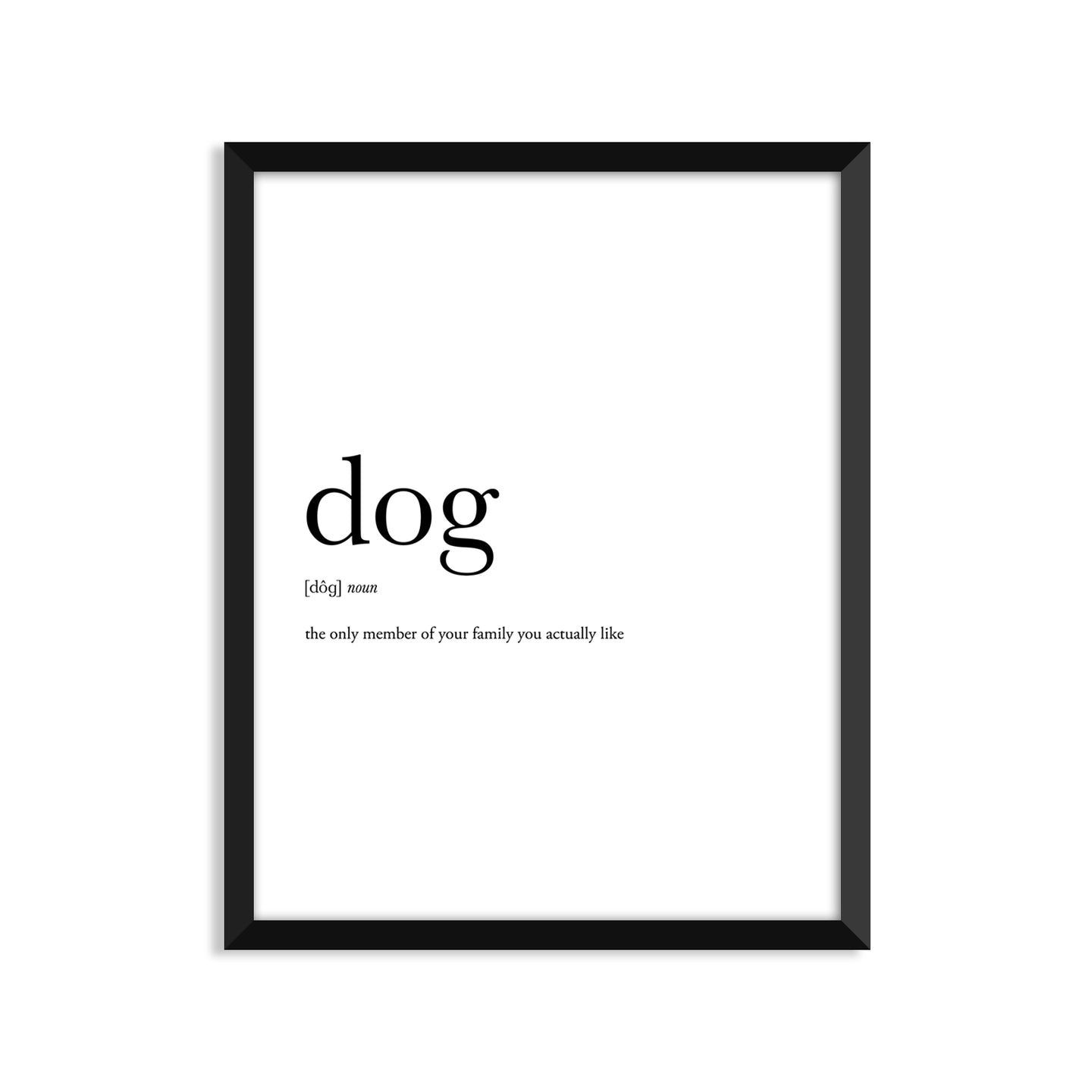 Dog Definition - Unframed Art Print Or Greeting Card