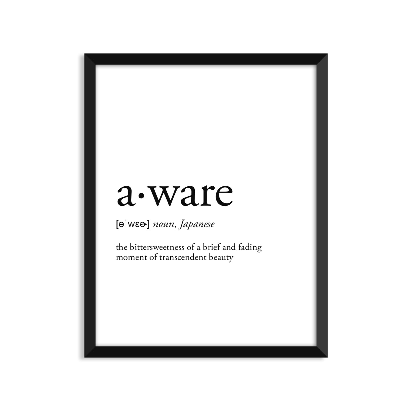 Aware Definition - Unframed Art Print Or Greeting Card