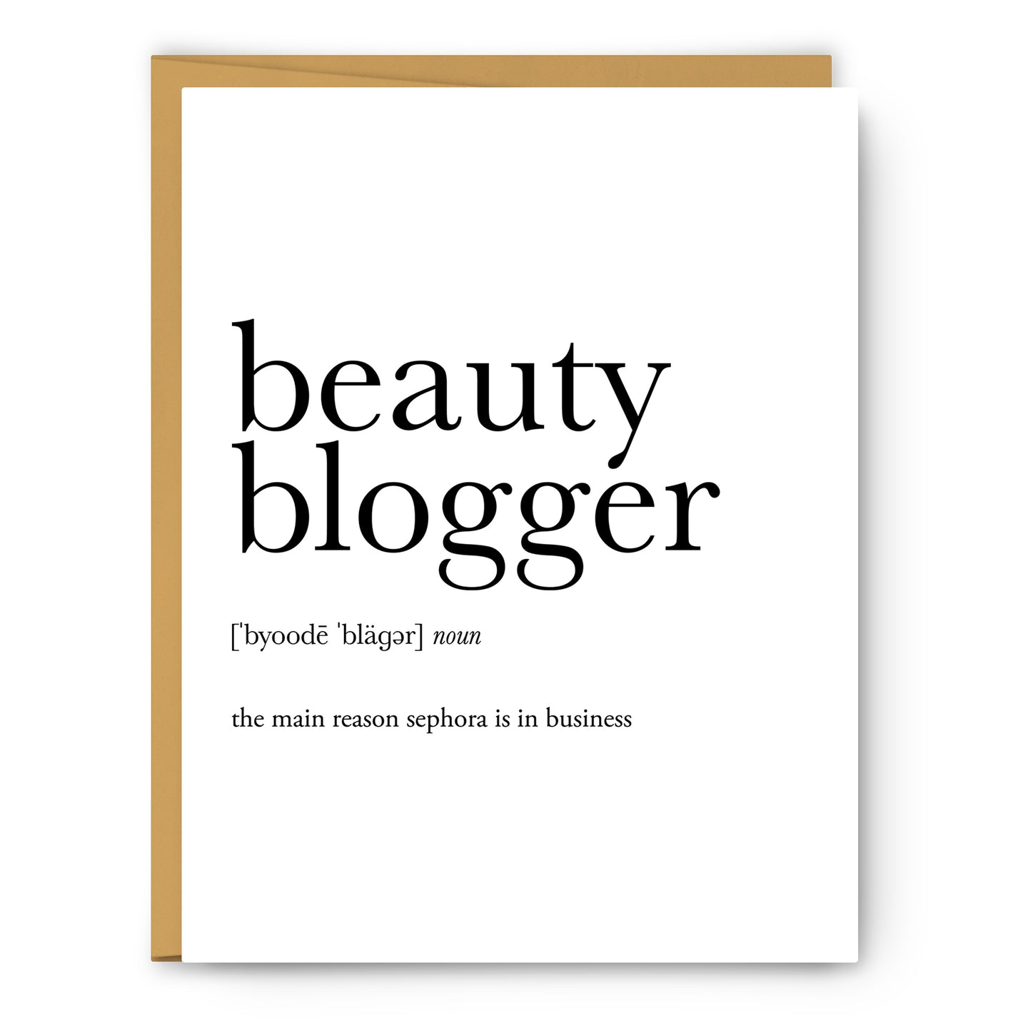 Beauty Blogger Definition - Unframed Art Print Or Greeting Card