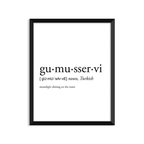 Gumusservi definition art print or greeting card
