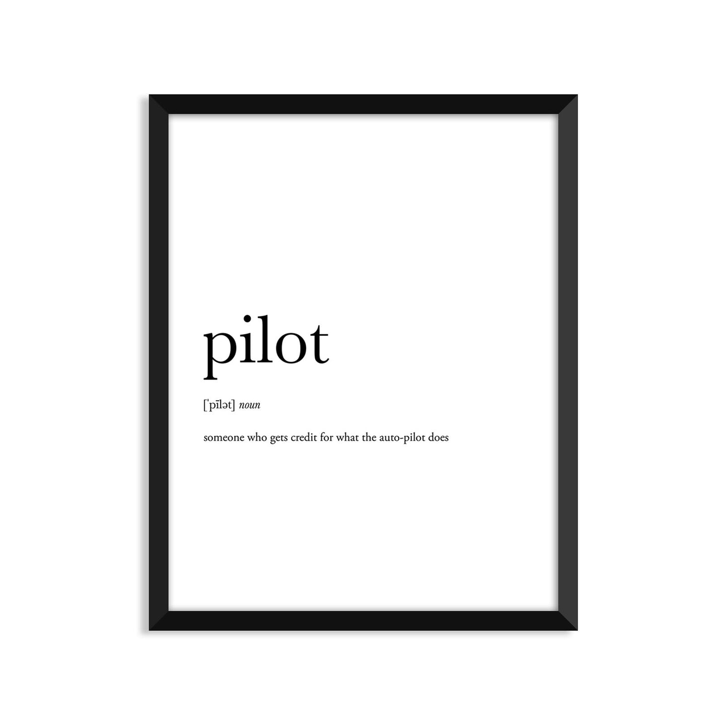 Pilot Definition - Unframed Art Print Or Greeting Card