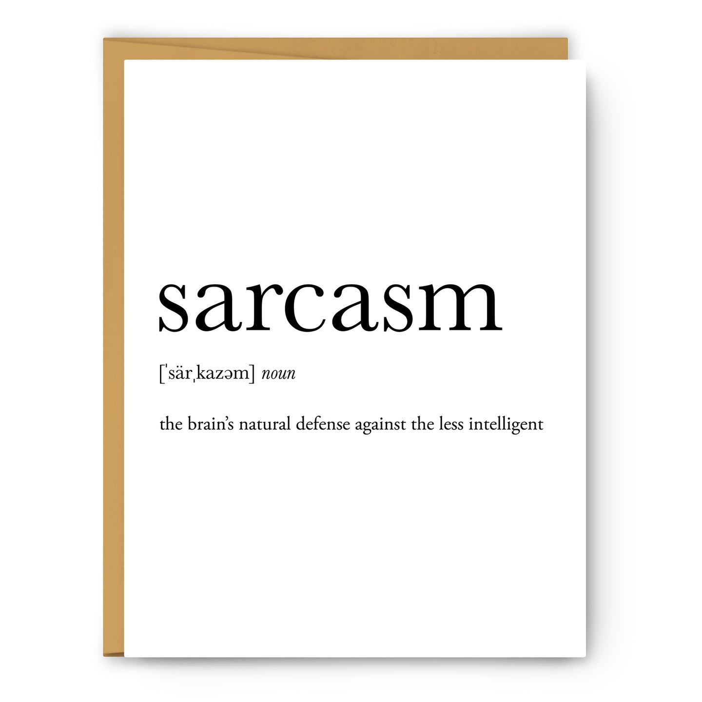 Sarcasm Definition - Unframed Art Print Or Greeting Card