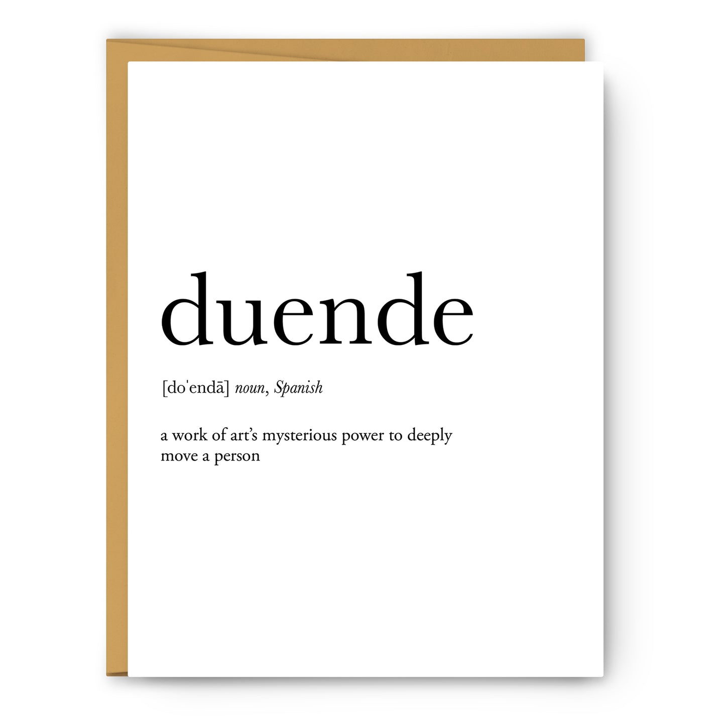 Duende Definition - Unframed Art Print Or Greeting Card
