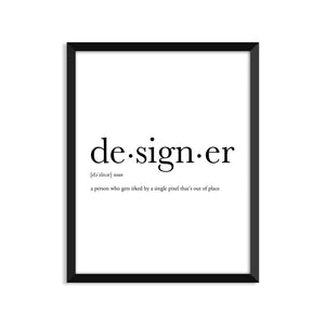 Designer Definition - Unframed Art Print Or Greeting Card