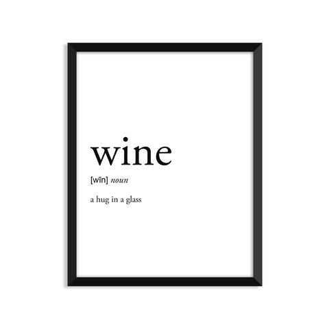 Wine definition art print or greeting card