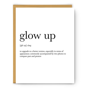 Glow Up Definition - Unframed Art Print Or Greeting Card