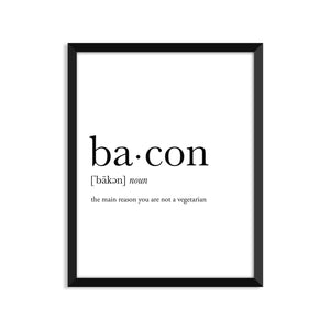 Bacon definition art print or greeting card