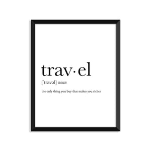 Travel Definition - Unframed Art Print Or Greeting Card
