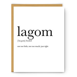 Lagom Definition - Unframed Art Print Or Greeting Card