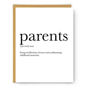Parents Definition - Unframed Art Print Or Greeting Card