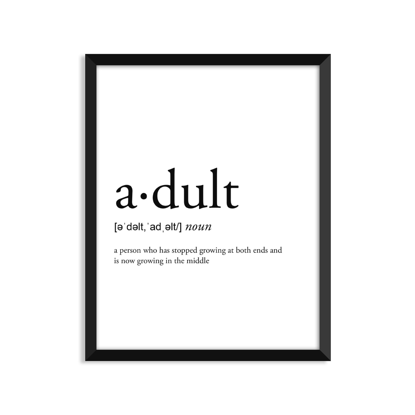 Adult definition art print or greeting card