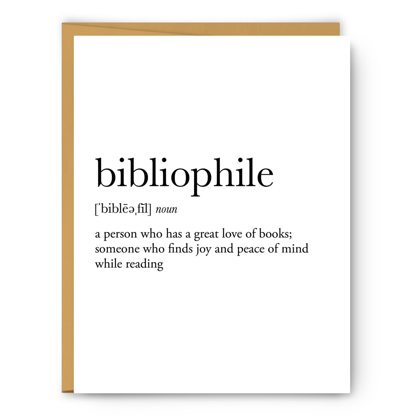 Bibliophile Definition - Unframed Art Print Or Greeting Card