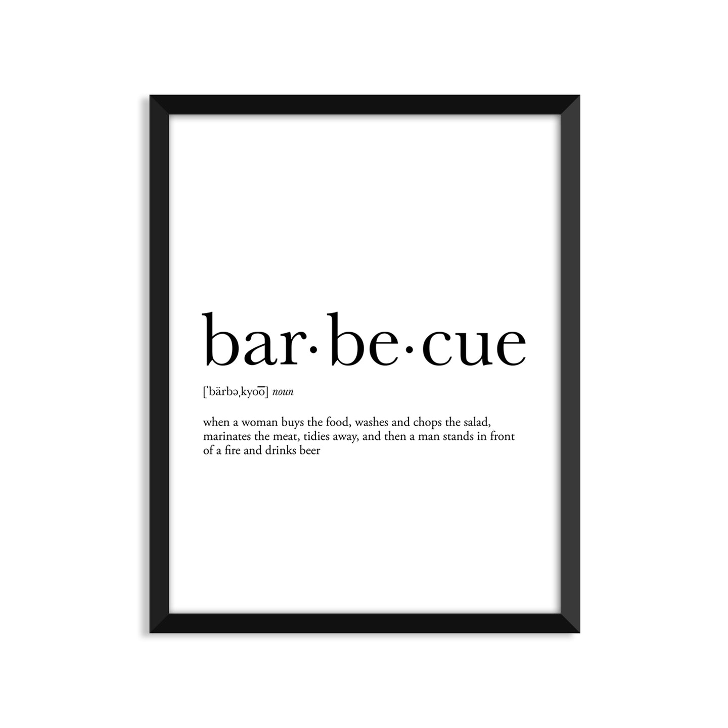 Barbecue Definition - Unframed Art Print Or Greeting Card