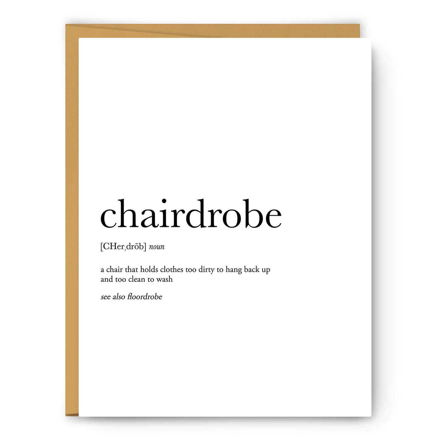 Chairdrobe Definition - Unframed Art Print Or Greeting Card