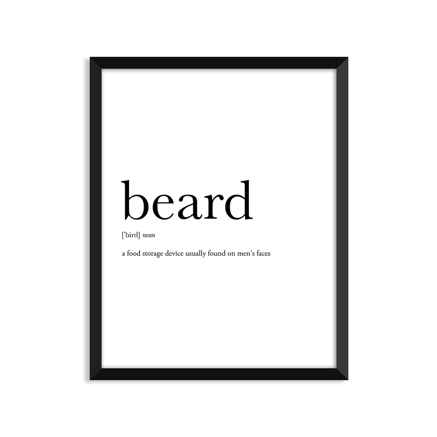 Beard Definition - Unframed Art Print Or Greeting Card