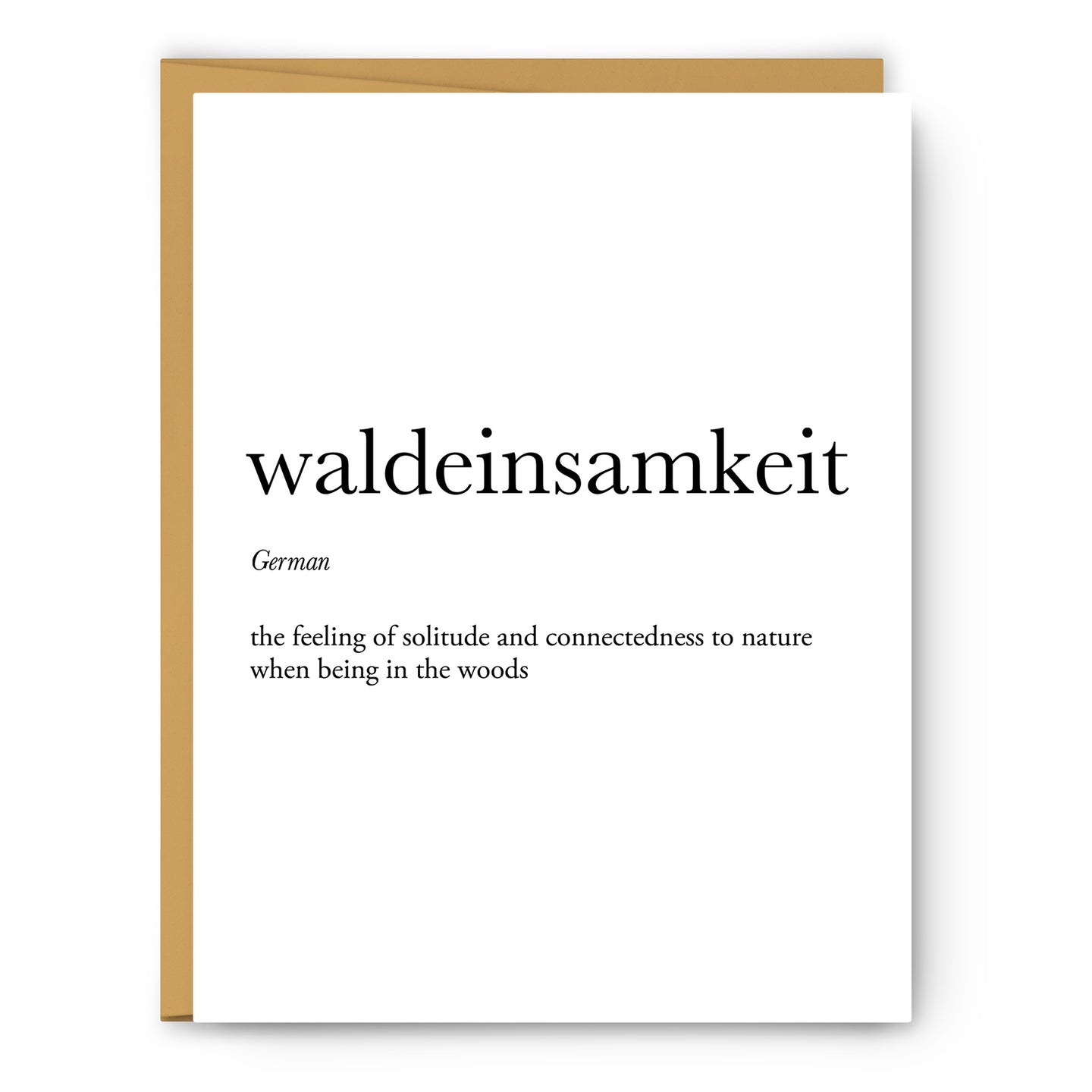 Waldeinsamkeit Definition - Unframed Art Print Or Greeting Card