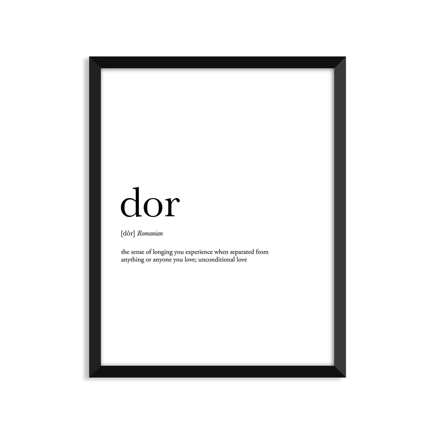 Dor Definition - Unframed Art Print Or Greeting Card