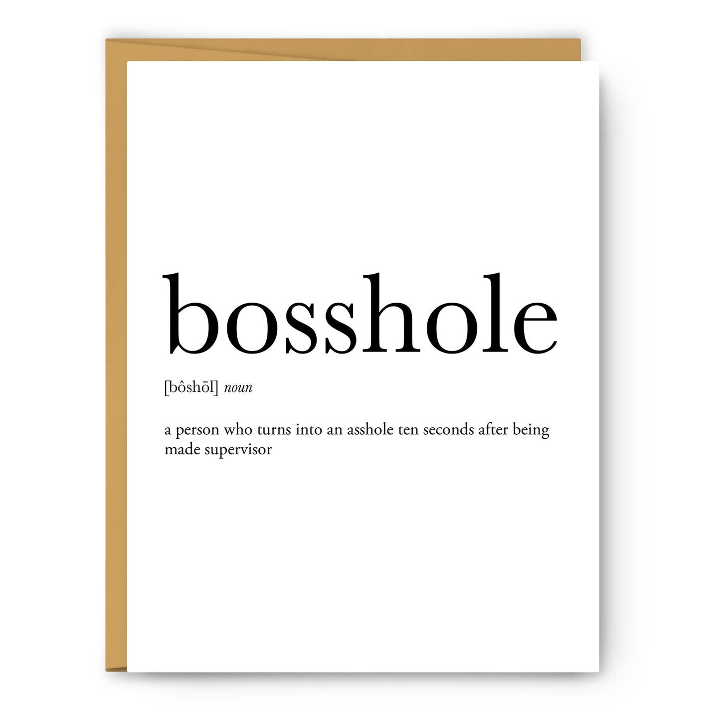 Bosshole Definition - Unframed Art Print Or Greeting Card