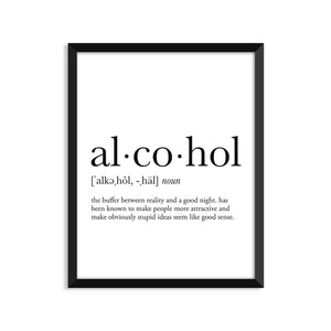 Alcohol Definition - Unframed Art Print Or Greeting Card