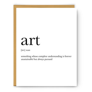 Art Definition - Unframed Art Print Or Greeting Card
