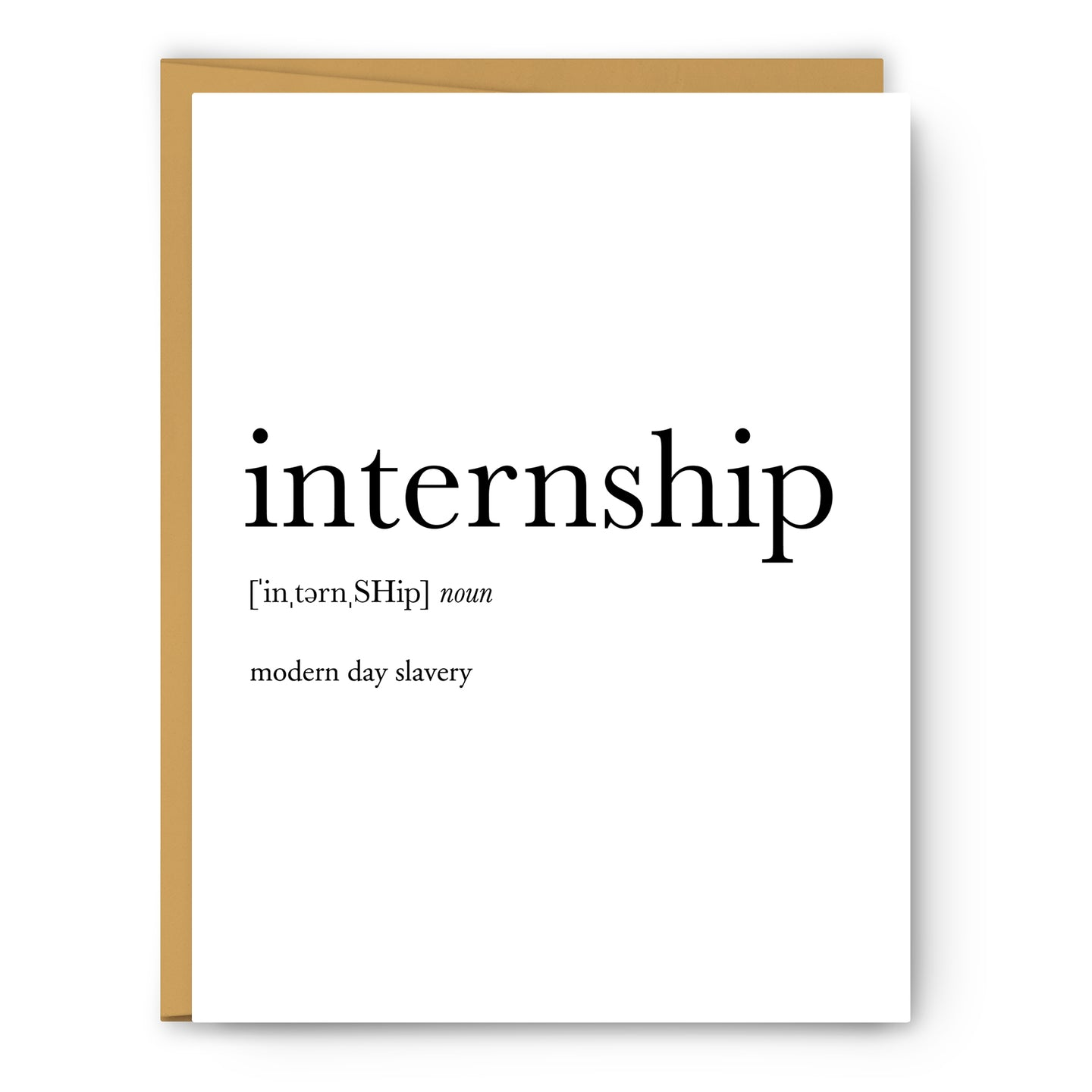 Internship Definition - Unframed Art Print Or Greeting Card