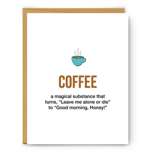 Coffee 2 Definition Illustration - Unframed Art Print Poster Or Greeting Card