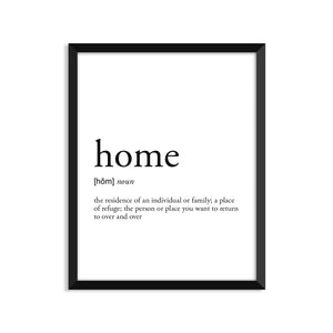 Home Definition - Unframed Art Print Or Greeting Card